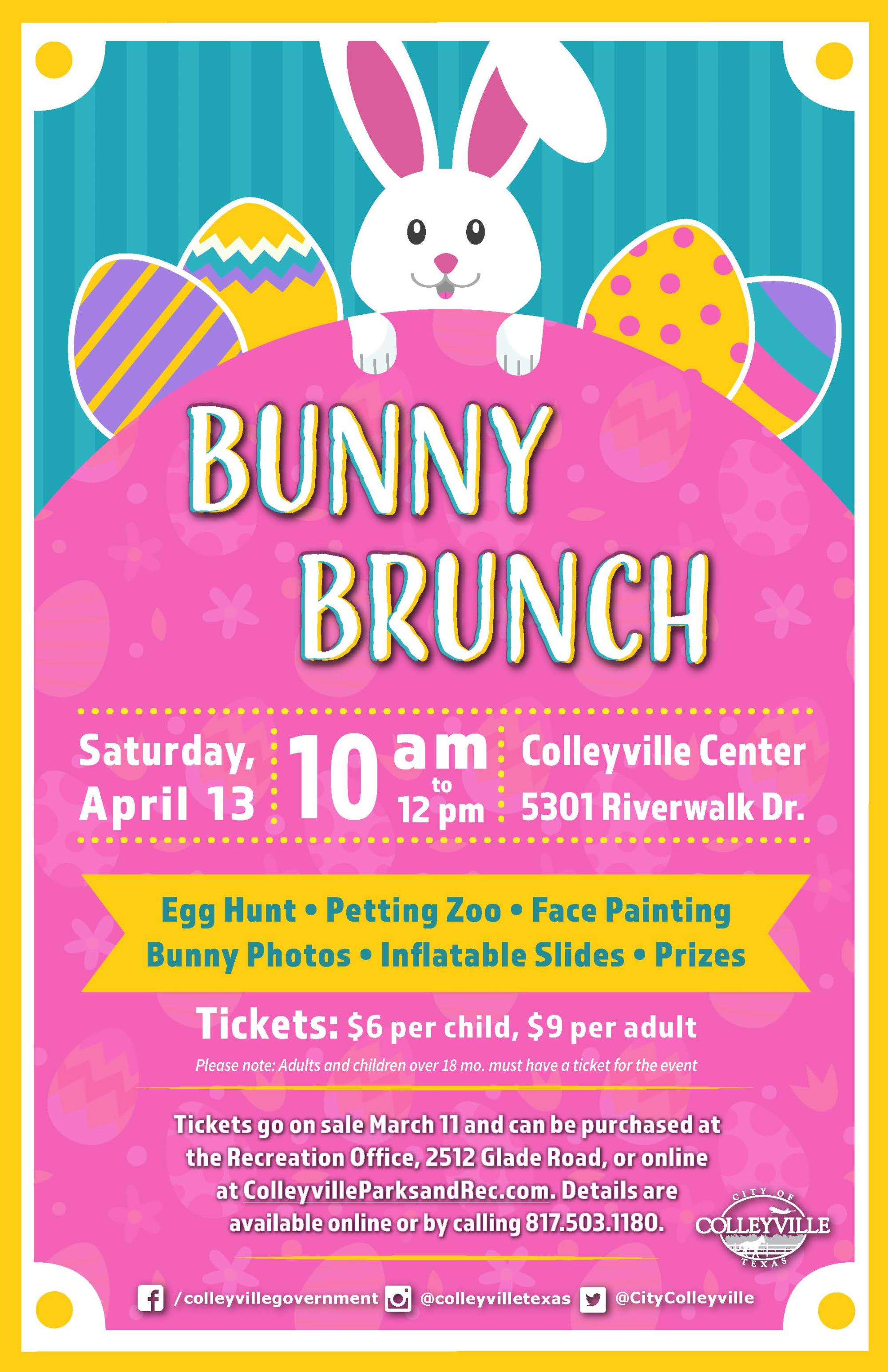 Bunny Brunch Tickets on Sale March 11