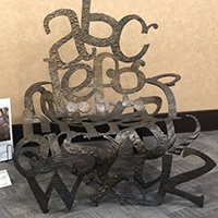 Sculptures Now on Display at the Library