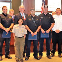 Firefighters Honored with Medal of Valor
